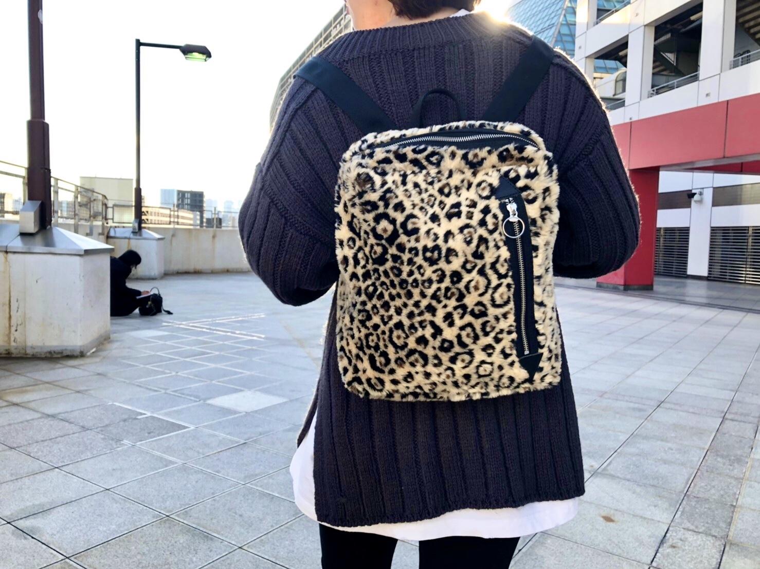 POMTATA ポンタタ ScrapBook スクラップブック リュック レオパード leopard エコファー 東武池袋 池袋東武 東武百貨店