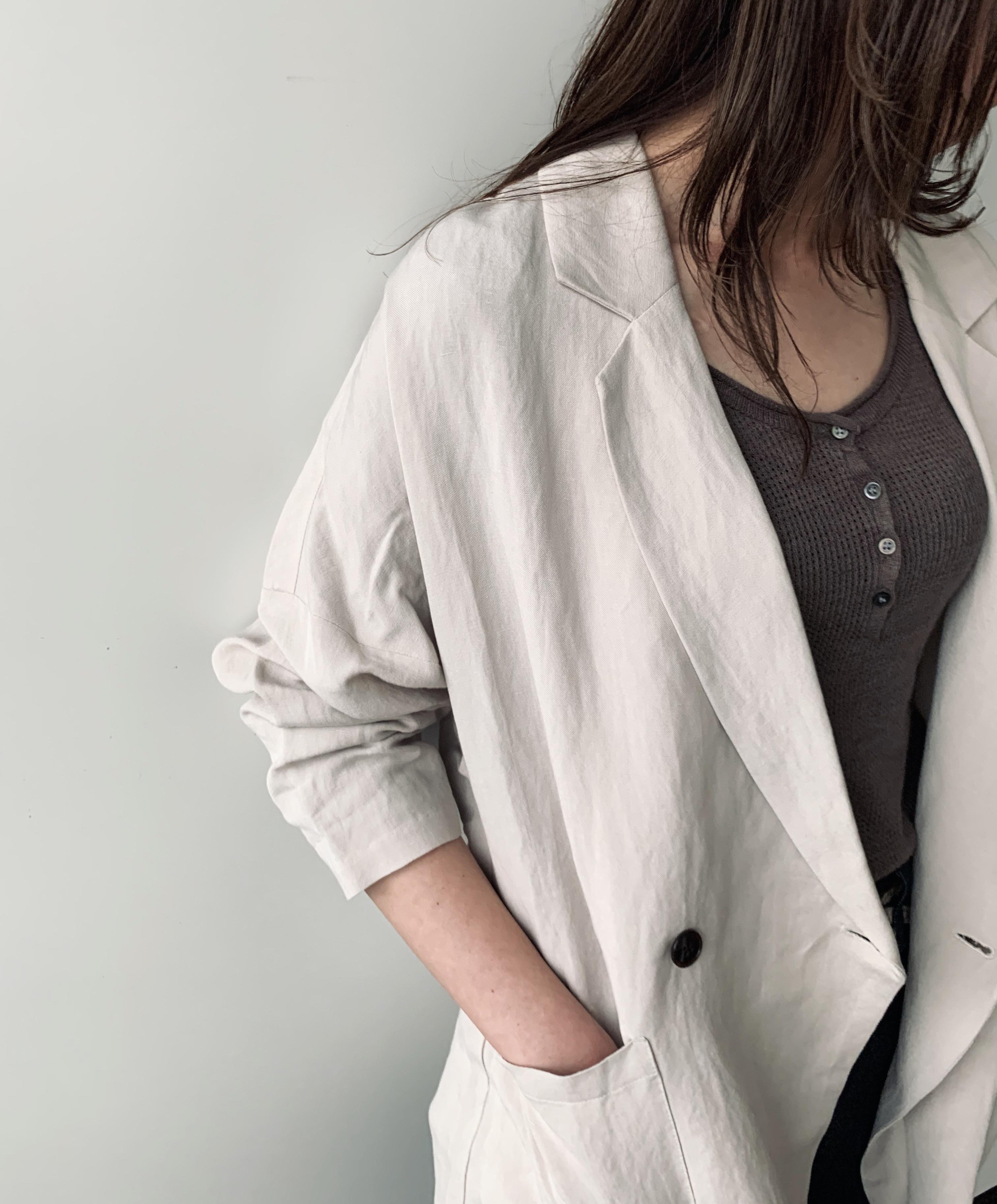scrap book スクラップブック la sric ラスリック 日本ブランド jacket ジャケット 日本ブランド リネン素材