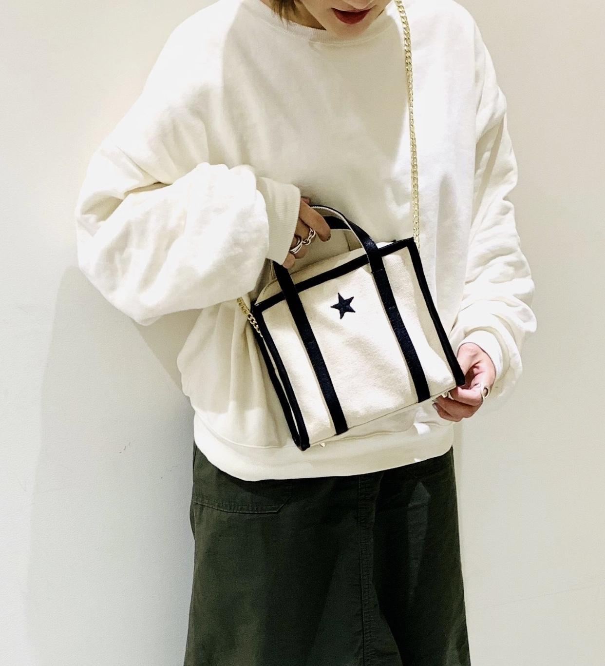 atneK Scrap Book アトネック スクラップブック 日本ブランド キャンバスバッグ ワンスター ショルダーバッグ 帆布バッグ チェーンショルダー ハンドバッグ 日本ブランド