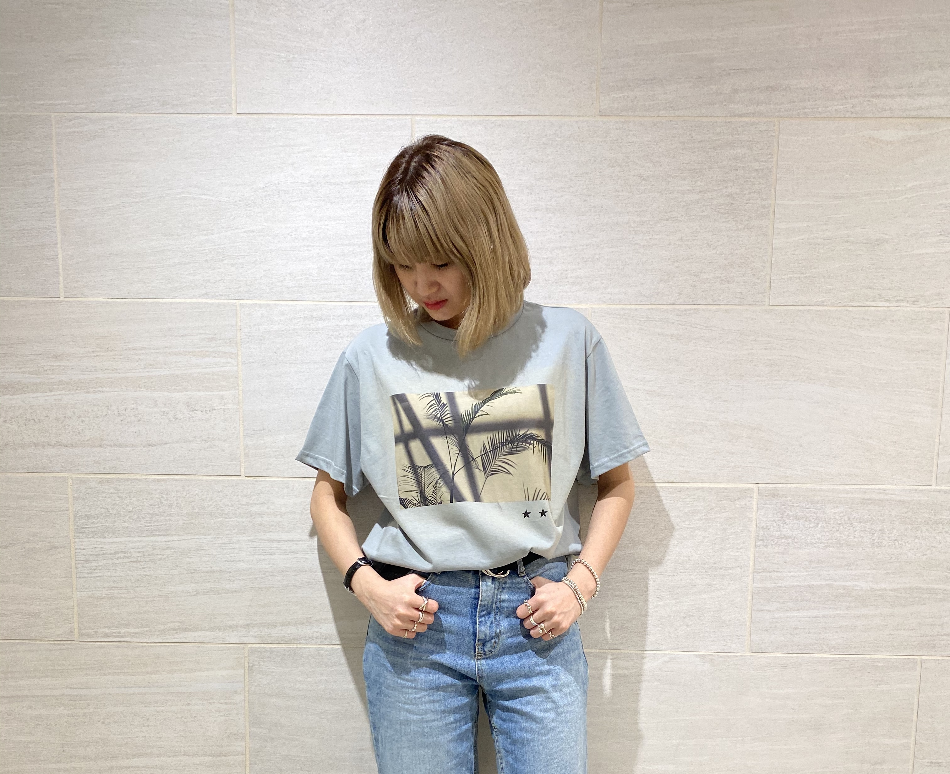 atnek by scrap book スクラップブック t-shirt tシャツ 半袖 ティーシャツ 夏 プリントTシャツ フォトT
