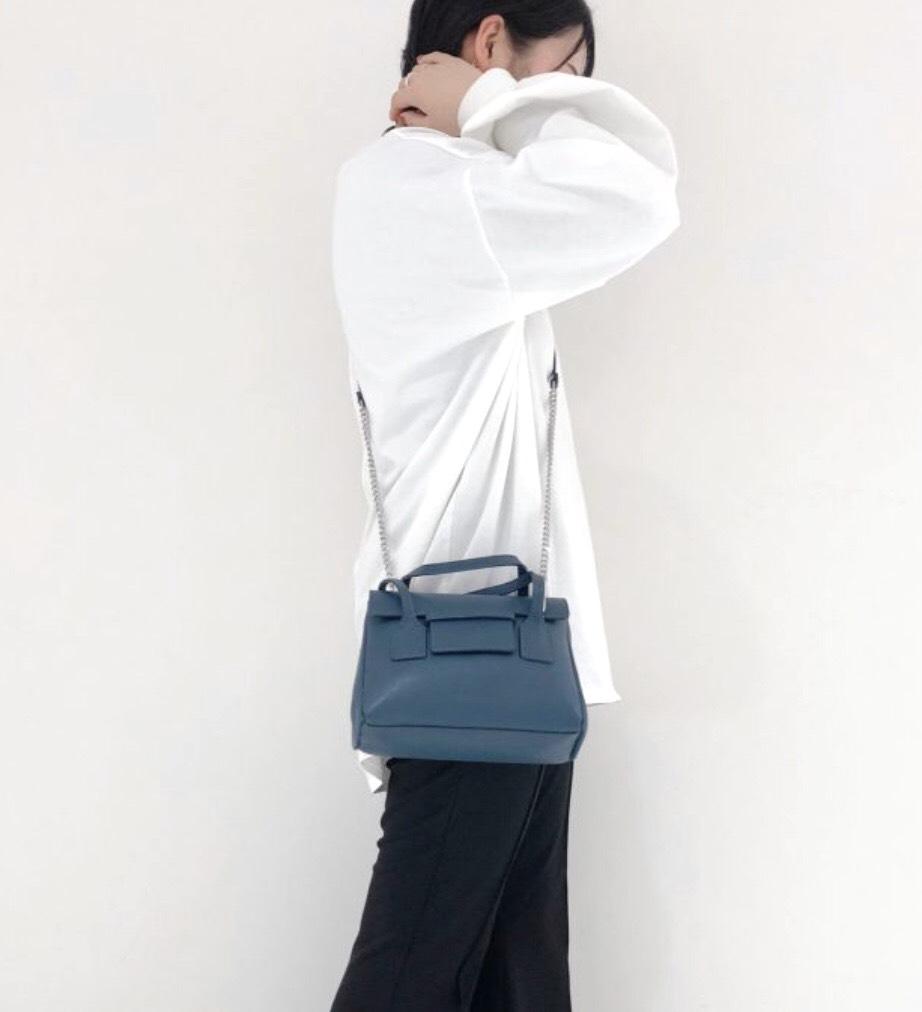 scrap book スクラップブック MILOS ミロス ハンドバッグ handbag ショルダーバッグ shoulder bag 牛革 チェーンショルダー