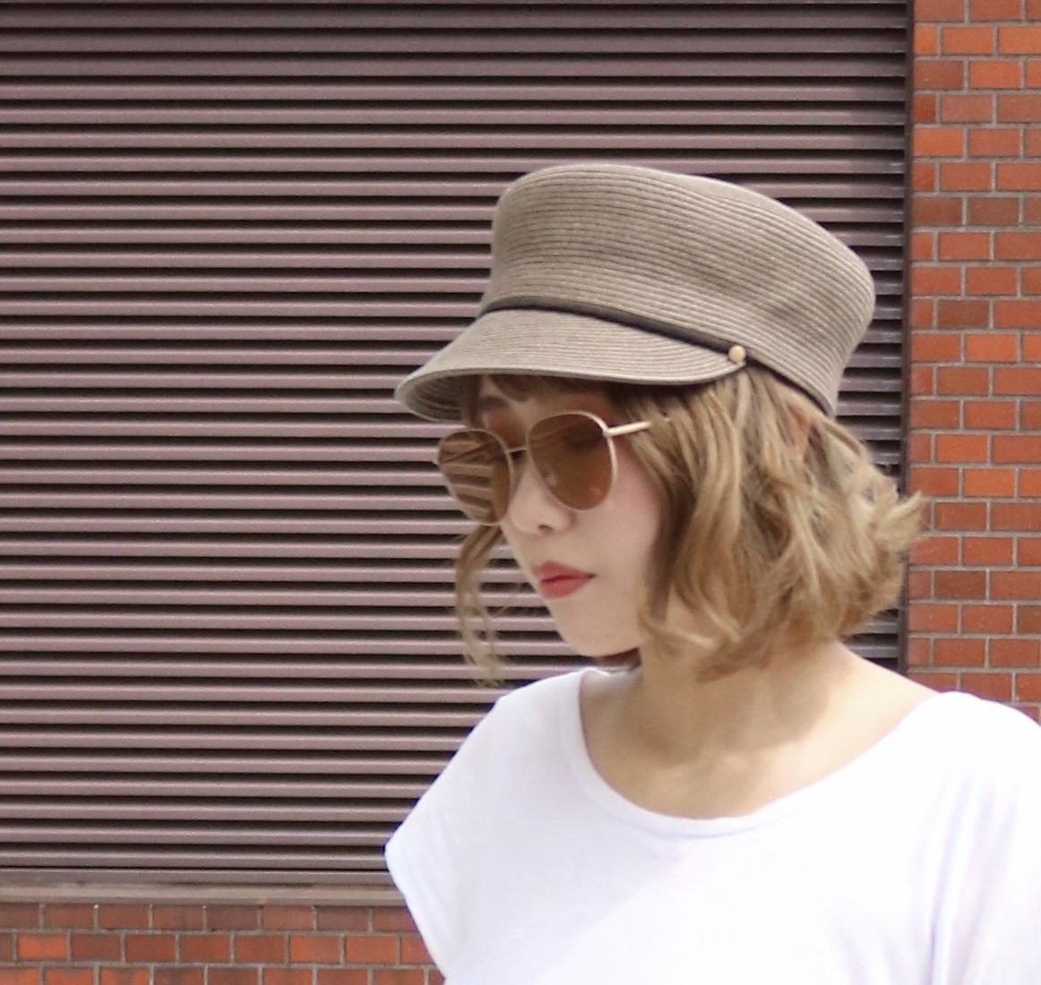 Scrap Book スクラップブック マリンキャップ ペーパー素材 コード付きマリンキャップ 日本ブランド 母の日ギフト 帽子 ハット
