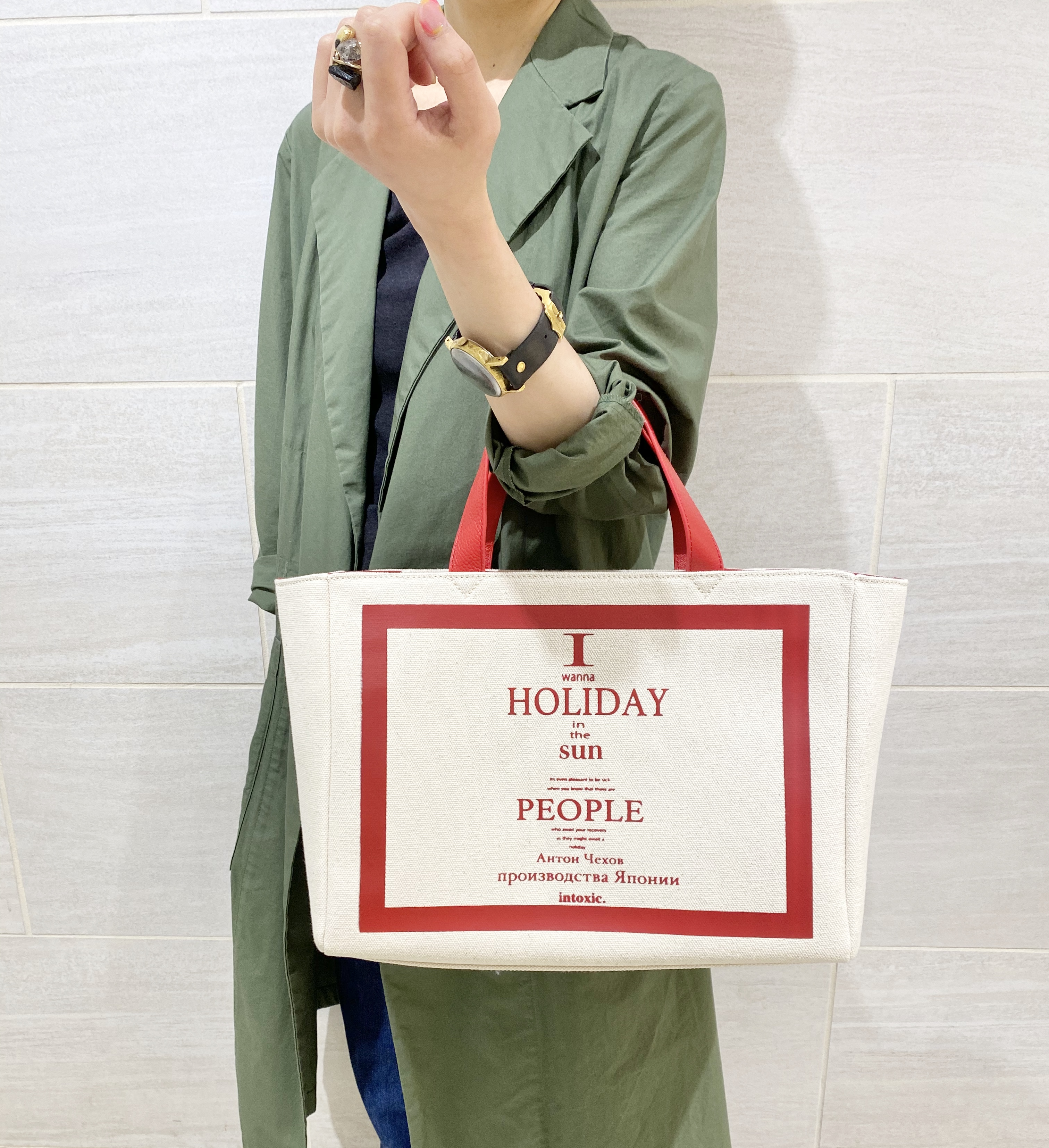 atnek by scrap book 京都 ポルタ イントキシック キャンパスバッグ ショルダーバッグ 肩がけ トートバッグ トート
