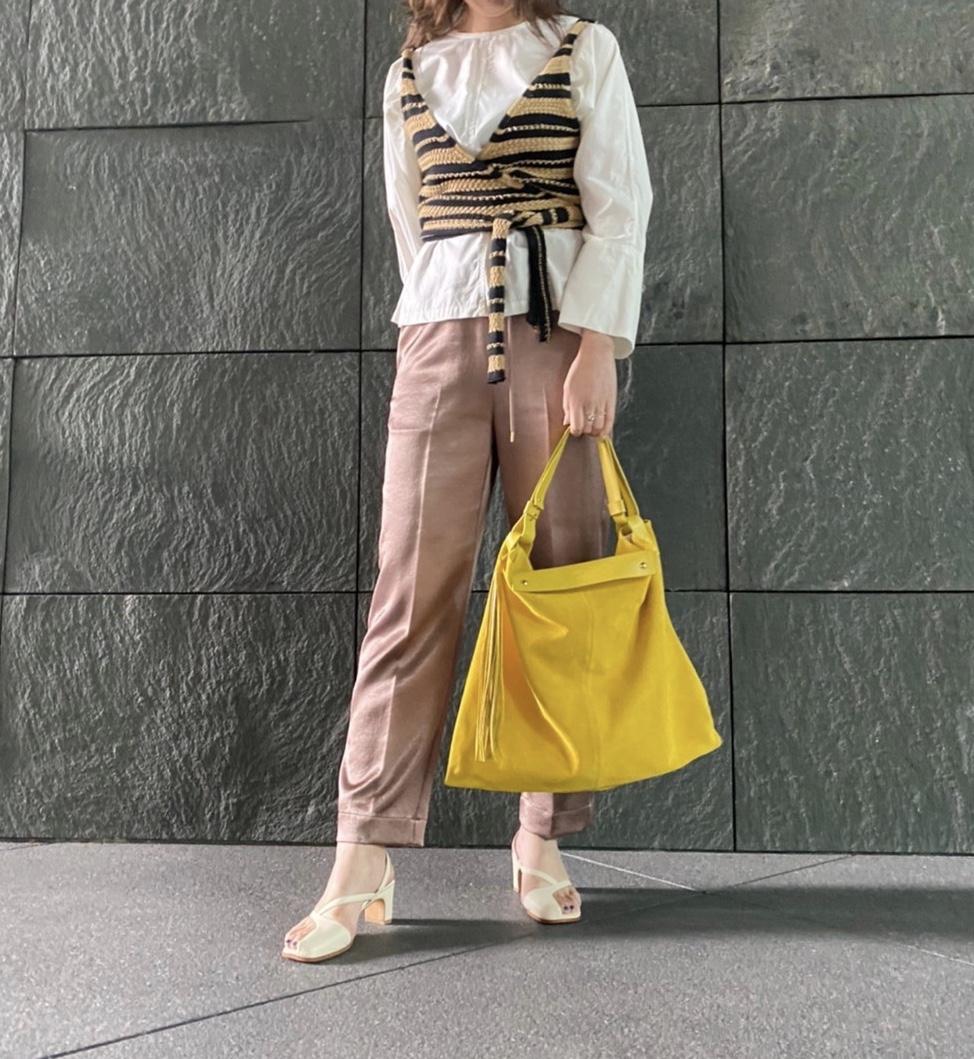 scrap book スクラップブック クリスチャンヴィラ CHRISTIAN VILLA handbag ハンドバッグ 肩がけバッグ shoulder bag colorful yellow イエロー