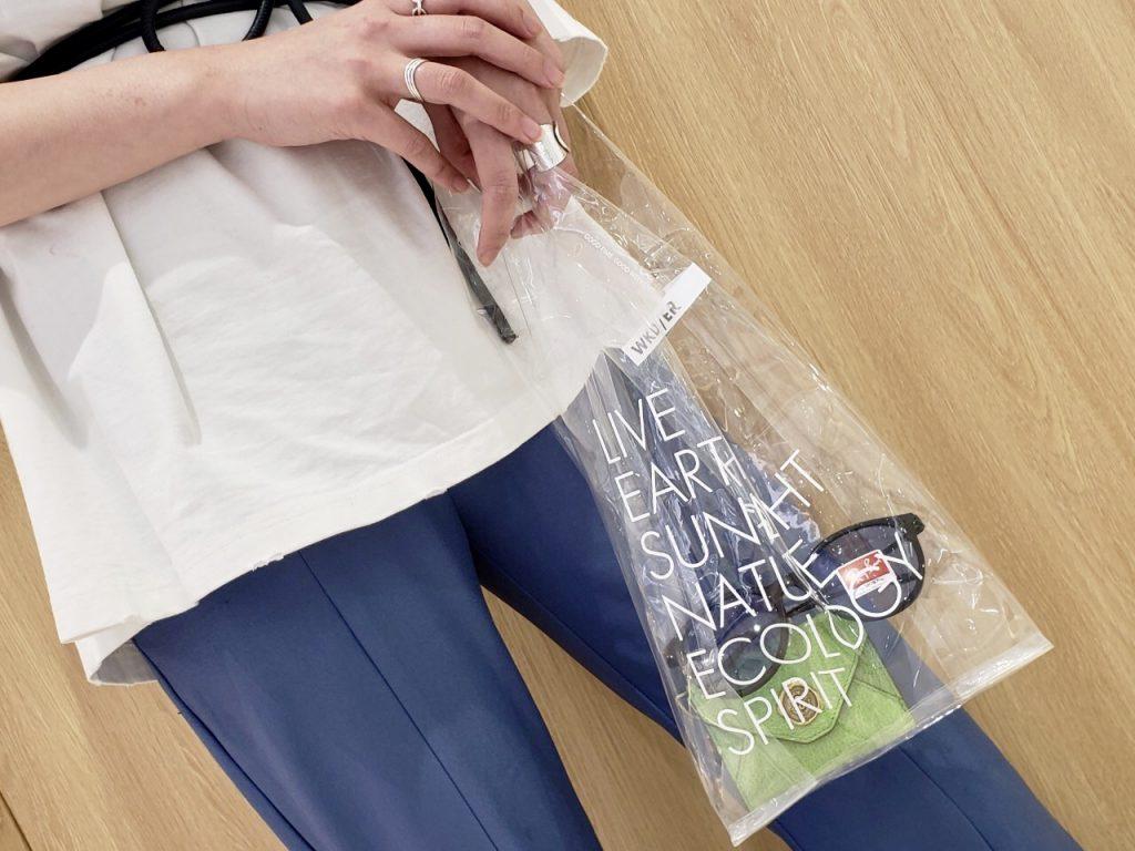 WEEKEND(ER)&co. ウィークエンダー ScrapBook   スクラップブック クリアバッグ clear bag エコバッグ プラスチック  ルミネ大宮 大宮ルミネ