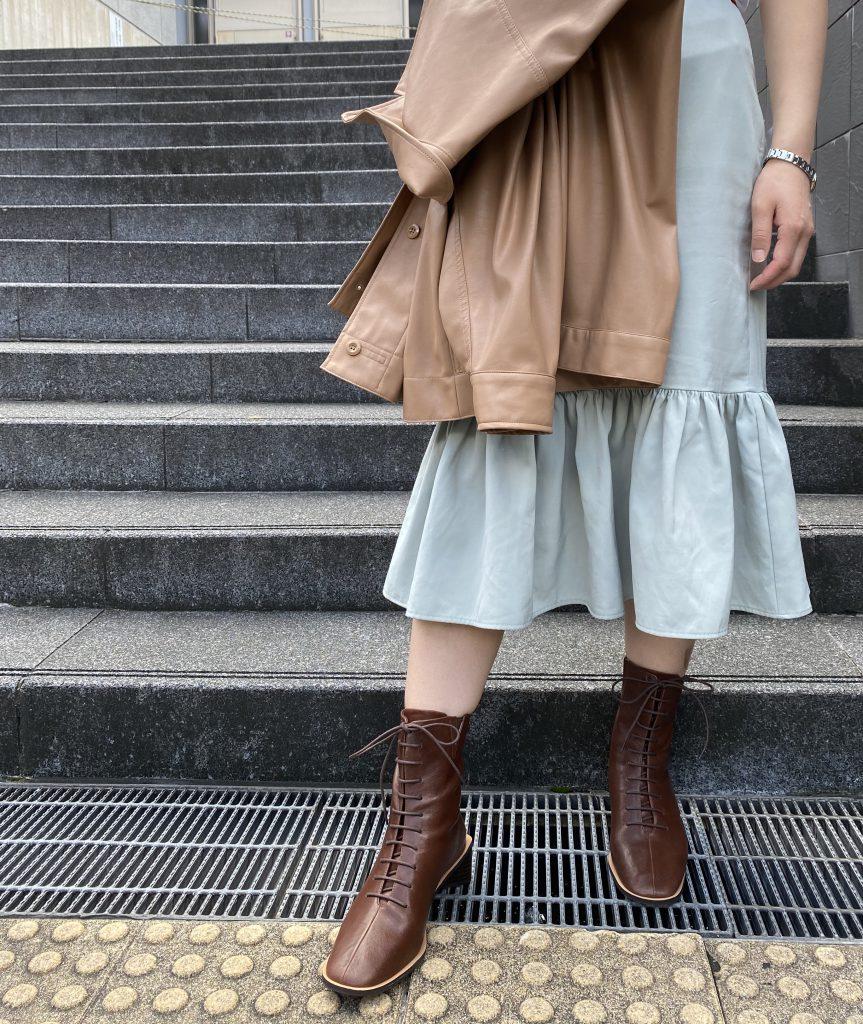 京都 ポルタ ブーツ レザーブーツ