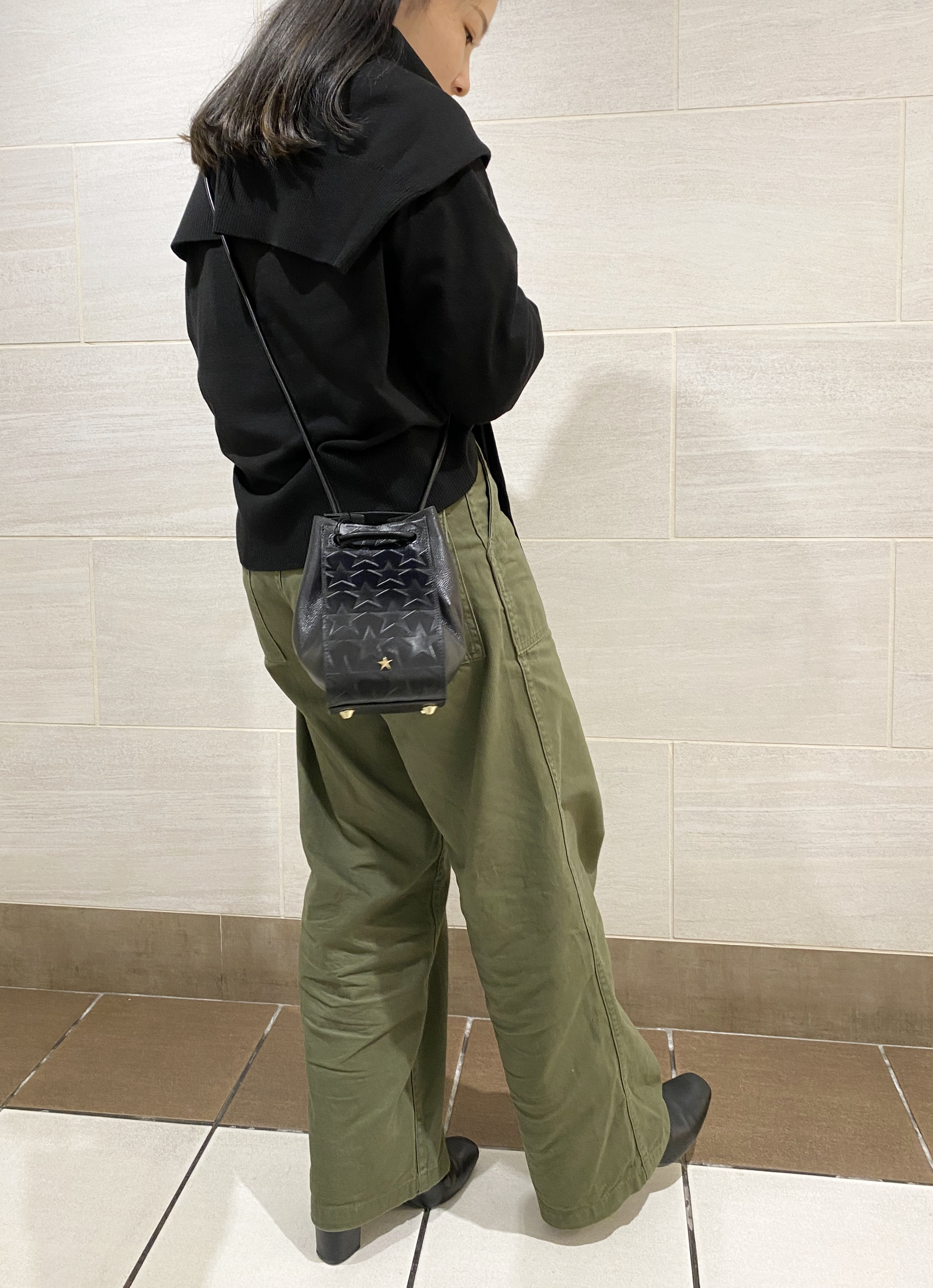 ポルタ 京都 セレクト 星 バッグ スター 巾着 レザー