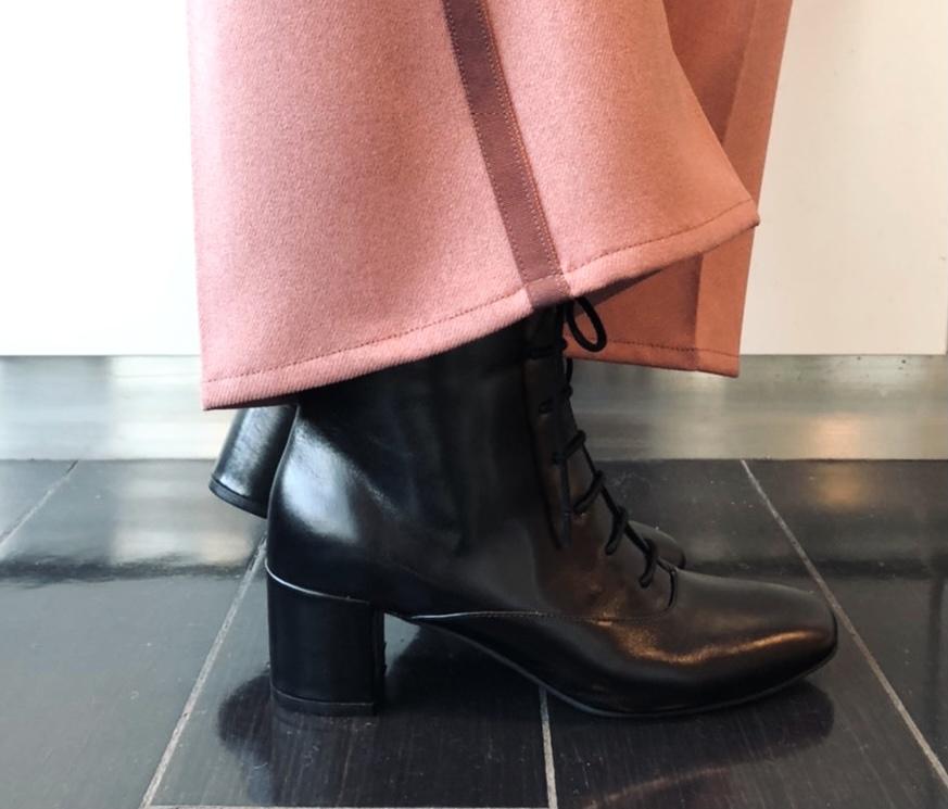 scrap book スクラップブック 有楽町マルイ race up boots レースアップブーツ 編み上げブーツ オリジナルシューズ オリジナルブーツ 牛革