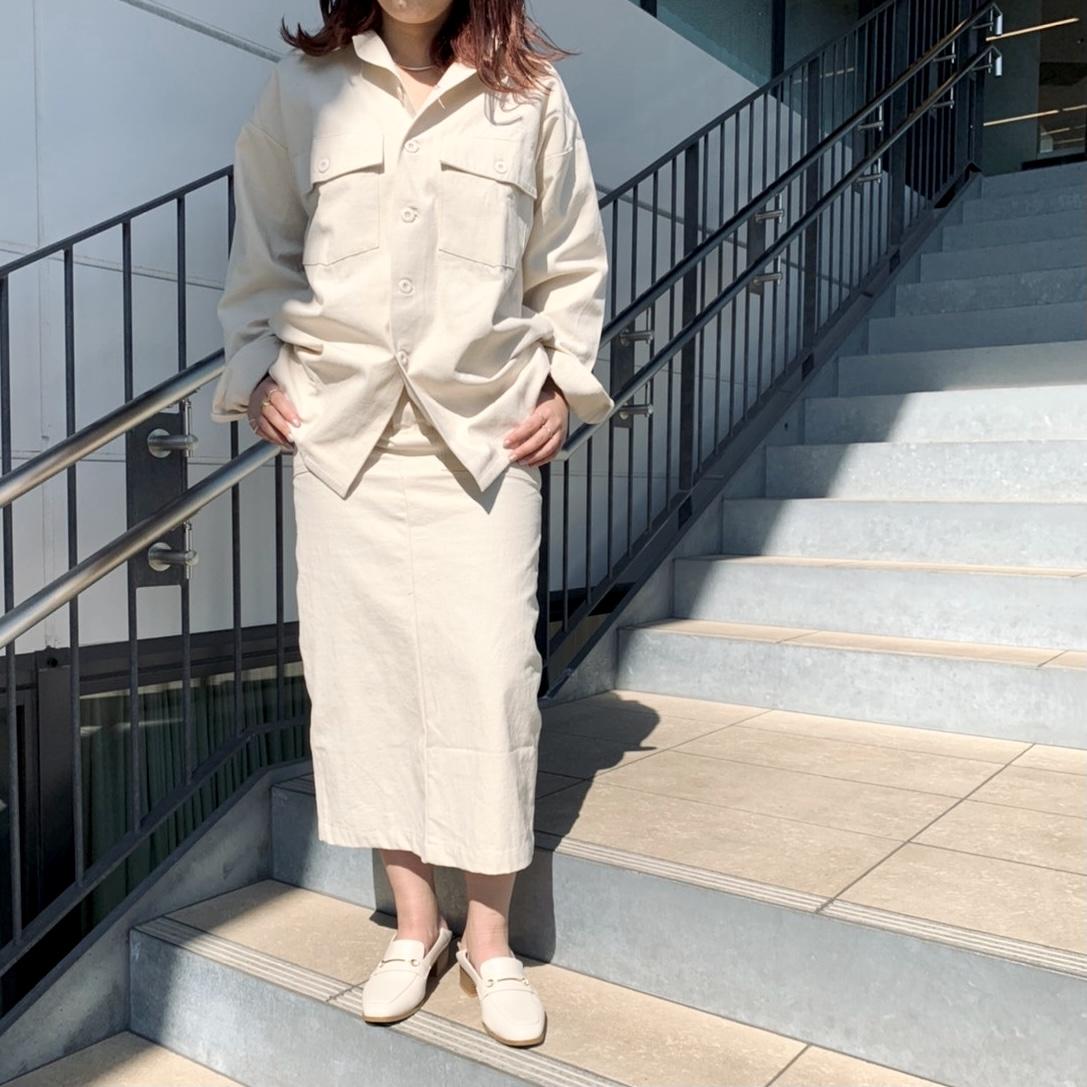 scrap book スクラップブック オリジナル original セットアップ setup tops skirt linen リネン タイトスカート ivory アイボリー 麻 横浜 ルミネ LUMINE